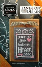 February A Year In Chalk series cross stitch chart Hands On Design - $5.00