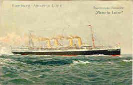 Steamship Victoria Luise passenger Llner 1914 Post Card - $6.00