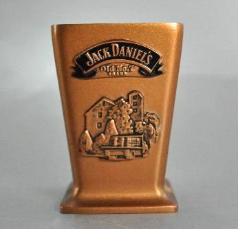 Jack Daniels Distillery 2002 Metal Shot Glass Old No 7 Copper Color
