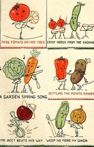 Animated Vegetables kitchen towels applique / embroidery pattern Mc349  - $5.00