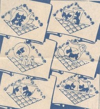 SCOTTIE DOG Dish Towel cross stitch embroidery pattern ab6454  - $5.00