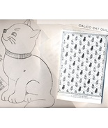 Vintage applique & embroidery CALICO CAT Quilt Pattern pattern LW1583  - $5.00