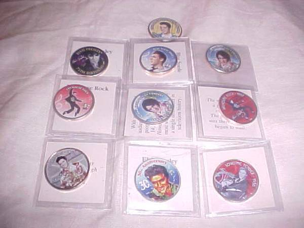 Primary image for 10 ELVIS PRESLEY COINS