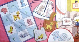 5 Nursery Pets in applique & embroidery quilt pattern V154  - $5.00