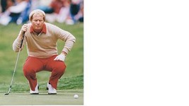 Jack Nicklaus Vintage 8X10 Color Golf Memorabilia Photo - $4.99