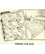 1930's Alphabet Crib Quilt quilt embroidery pattern N8706 - $5.00