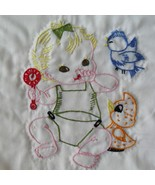 Baby's embroidered crib cover pattern AB7009 - $5.00