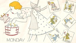 HouseKeeper DOW -days of week towel embroidery pattern BB/W901  - $5.00