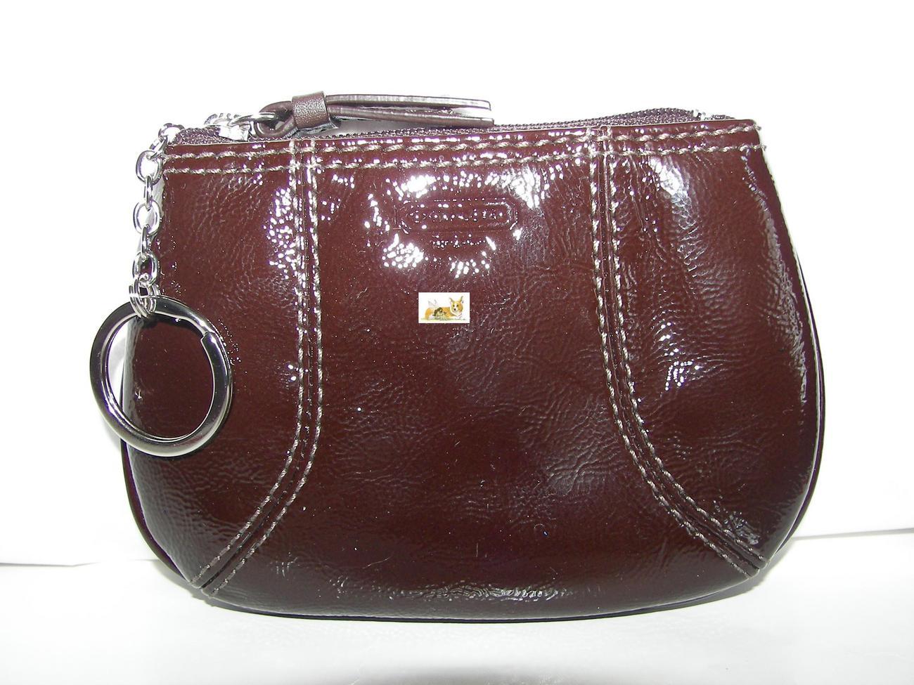 Coach Soho Brown Patent Leather Mini Skinny 42050