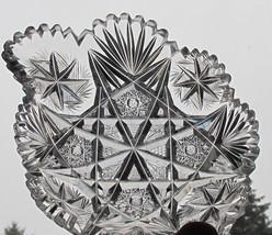 American Brilliant Period Cut Glass odd shape dish  ABP antique - $45.47