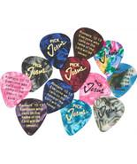 Pick Jesus Guitar picks - 12 Pack - Bible Verse - - $11.99