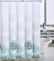 Max Studio Parasol Ombre Teal/Gray on White Shower Curtain - $35.00
