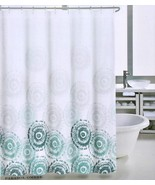 Max Studio Parasol Ombre Teal/Gray on White Shower Curtain - $32.00