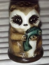 Raccoon Vintage Franklin Mint FP Friends of the Forest Thimble Porcelain... - $9.50