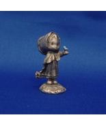 Little Gallery Pewter Figurine Hallmark Girl with Blue Bird ( 1977) - $9.99