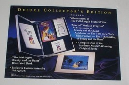 Beauty & Beast Disney Deluxe Collectors Making of the of movie Lithograp... - $65.99