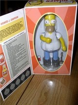 The Simpsons Homer Fisherman with orange shirt and fish Tin wind up  Action