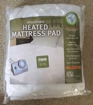 Twin Biddeford Heated Mattress Pad 10 Hour Auto Shutoff Fits Mattress up... - $51.99