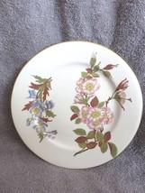 "1887 Antique Royal Worcester Floral & Gold Plate 9 1/8"" - $21.78"