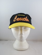Vancouver Canucks Hat (VTG) - Two Tone Script by Krystal Kaps - Adult St... - $49.00