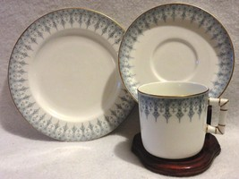 1912 Royal Worcester Trio Plate, Cup & Saucer Blue & White - $25.00