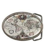 Ancient World Map Belt Buckle New - $7.52