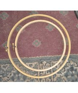 """Two Large Wood Embroidery Hoops 8"""" & 10"""" Westex Ind, Taiwan - $3.00"""