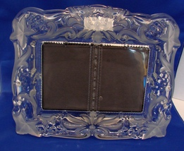 "Mikasa Crystal Duet Photo Fram: Holds Two  3"" x 5"" Photos Discounted Price - $29.95"