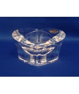 Cristal d'Arques 24 % Lead Crystal Heart Shaped Candle Holder - $12.49