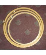 """Three Wood Embroidery Round Hoops 8"""", 9"""" & 10"""" Unused Taiwan - $5.00"""