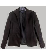 Lafayette 148 Brown linen jacket 4 Open front L... - $39.99