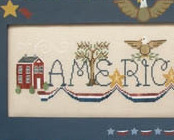Simply Americana patriotic cross stitch chart Waxing Moon Designs