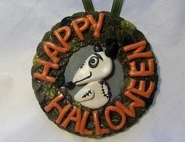 SPARKY HAPPY HALLOWEEN ORNAMENT polymer clay art Frankenweenie zombie do... - $13.86