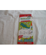 Subtraction Wipe Clean Pad   English & French  Ages 5+   Beaver Books - $2.23