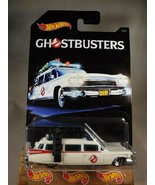 2017 Hot Wheels Ghostbusters Series 7/8 GHOSTBUSTERS ECTO-1 White w/Chro... - $15.25
