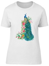 Amazing Floral Colorful Peacock Women's Tee -Image by Shutterstock - $10.88+