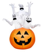 4' Halloween Inflatable Airblown Ghost Yard Pumpkin Decor Decoration Lig... - $1.624,00 MXN