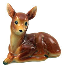 Vintage fawn lying down deer figurine made in J... - $10.00