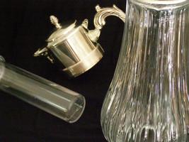 Vintage Glass Jug/tankard/pitcher W/silverplate... - $83.55