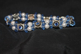 Handcrafted Blue Swarovski Crystal Faceted Bracelet - $24.99