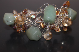 Handcrafted Pale Aqua Amazonite Bracelet with Mother of Pearls - $29.99