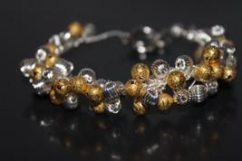 Handcrafted Silvertone/Goldtone Metal Beads Bracelet - $19.99