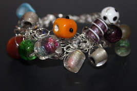 Handcrafted Multi Color Glass Beads Bracelet - $19.99