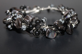 Handcrafted Black and White Onyx Agate Beads Bracelet - $29.99