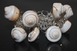 Handcrafted Sea Shells Bracelet with Glass Beads - $19.99
