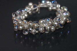 Handcrafted Freshwater Pearls Bracelet with Glass Beads - $24.99