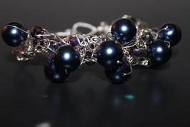 Handcrafted Blue Glass Beads Braided Bracelet - $19.99