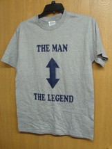 NEW MENS SIZE EXTRA LARGE THE MAN THE LEGEND LOVE GURU T SHIRT W ARROWS ... - $1.99