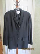 Emanuel Ungaro Black Pinstripe Classic Blazer size 4/38 - $49.50