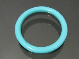 Gorgeous Blue Cabochon Glass Bangle Bracelet Vintage Retro  - $55.00